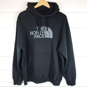 The North Face XL Men's Hoodie Black Logo Pullover